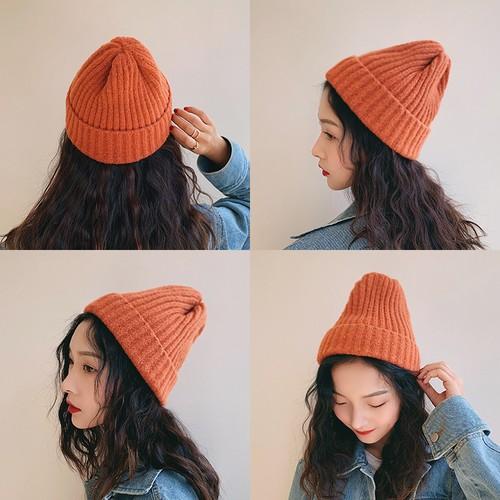【送料無料】 9color♡ ウール ニット 帽子 ニット帽 カジュアル カラーバリエーション豊富 差し色 アクセント