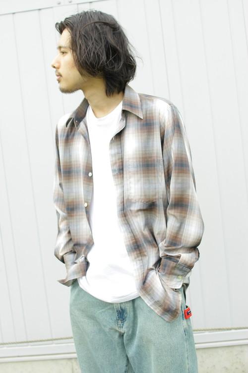 Digital Check L/S Shirt (Brown)