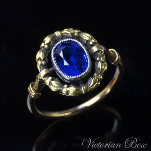 Antique Sapphire Garland Ring