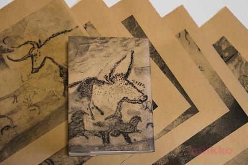 紙製ブックカバー ラスコー洞窟の壁画