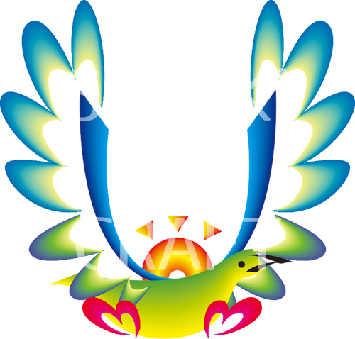 ハワイ花文字 大文字『U』