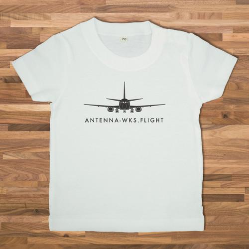 【ベビー】FLIGHT イラスト Tシャツ/ホワイト【CWE-036WHB】