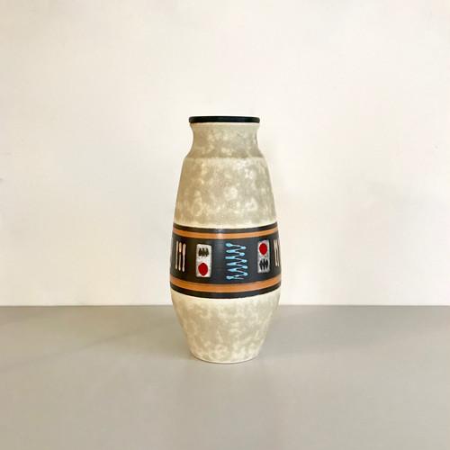 "Vintage W.Germany Pottery Vase ""Scheurich"" 135/28 西ドイツ"