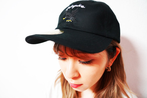 "[予約商品]RAKUGAKI2020 ""BLACK HAWK"" Logo Dad Cap Black"