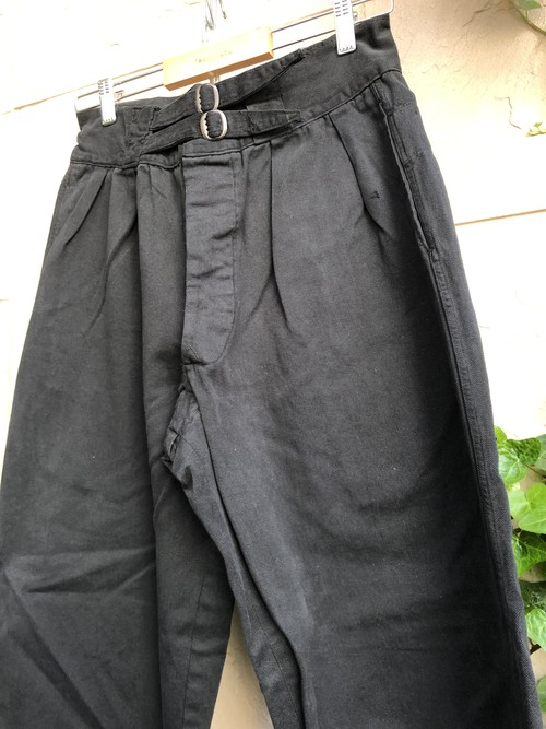 1950s Australian military trousers over dyed black color