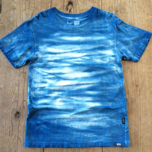 iBB×GOHEMP オリジナル藍染Tシャツ【縞模様】