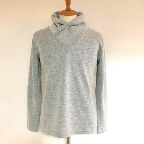 Wool Like Volume Neck White(Light Gray)