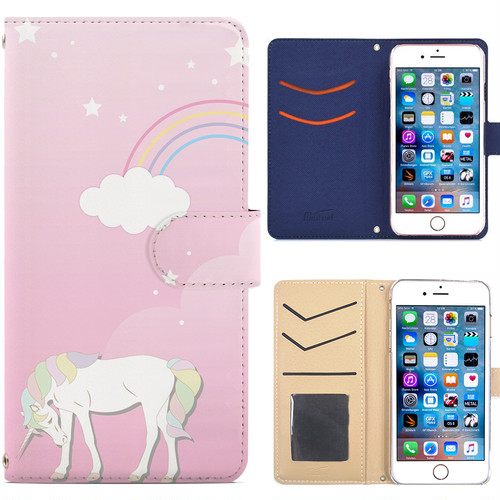 Jenny Desse iPhone SE/iPhone 5/ 5s/ 5c ケース 手帳型 カバー スタンド機能 カードホルダー ピンク(ブルーバック)