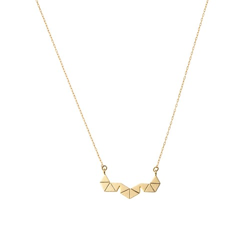 Geometric Triangle Necklace without Stone