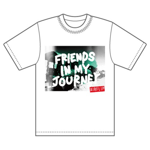 """""""Friends In My Journey Tour"""" T-SHIRTS ホワイト"""
