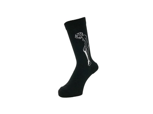 WHIMSY - 32/1 CATHIE SOCKS (Black)