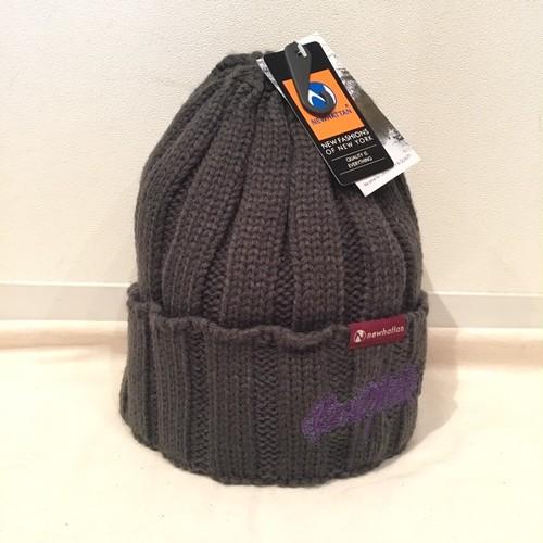 黒までの群青と紫 NIT CAP  H.GRAY