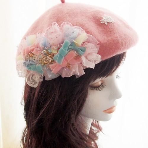 【9/23 21:00-】ピンク ポワポワベレー帽 ドリーミングラビット