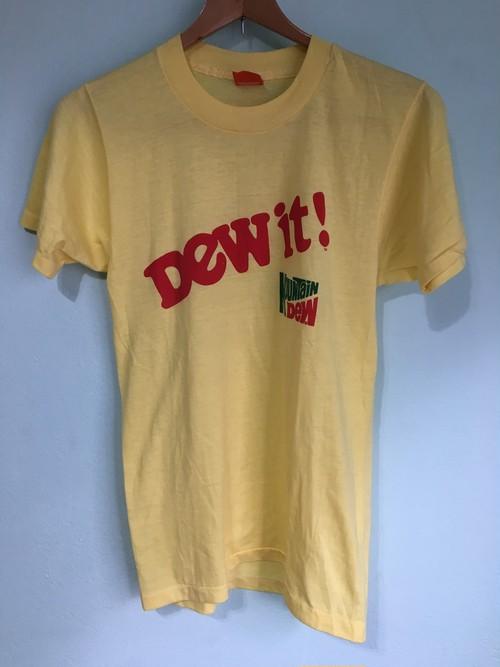 アメリカ製 スクリーンスターボディ ビンテージ マウンテンデュー DEW IT ! Tシャツ シングルステッチ / 80s OLD