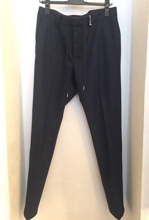 Wool Stretch Slacks Pants Navy