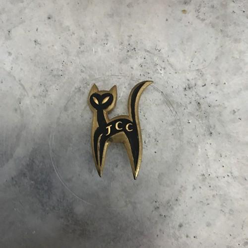 ネコブローチ ピン 猫 ゴールド×ブラック ヴィンテージ