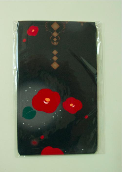 gouk雅 夜幻椿柄オーバーニーソックス 黒 GGJ28-G919 BK/F