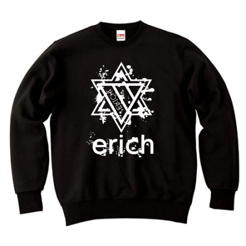 ERICH / HEXAGRAM LOGO CREWNECK SWEAT BLACK