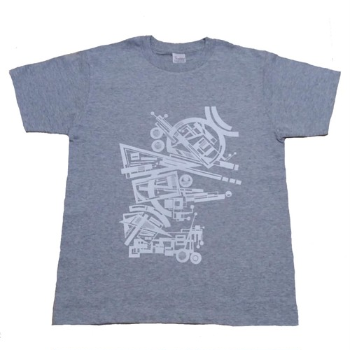LY:Original T-Shirts グレーボディー (Front Print) ② 2020002FPG