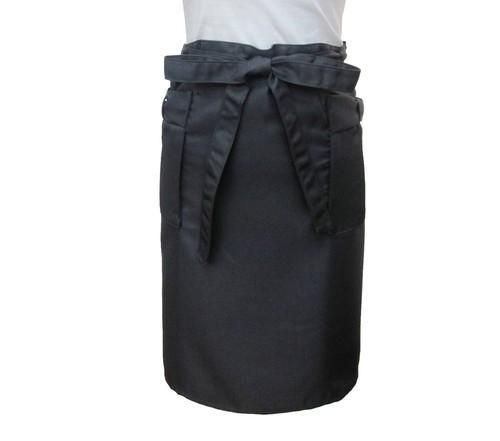 ショートエプロン60 ブラック    カフェエプロン   ネイルガーデン