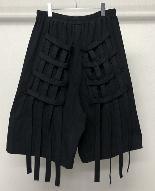 BERNHARD WILLHELM MULTIPLE STRAP SHORTS BLACK