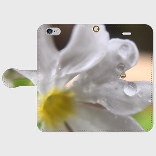 iPhone6/6s 手帳型スマホケースPrimrose & Drop of water