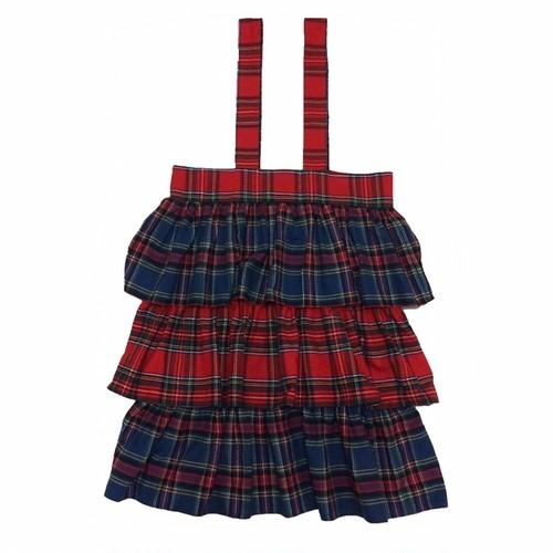 フリル吊りスカート RED×BLUE