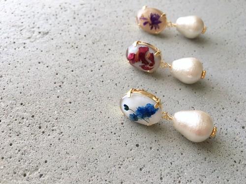 flower bijou 02___pierce or earrings