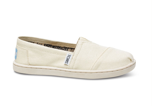 Canvas Youth TOMS Classics  ( Natural  ) トムス キッズ