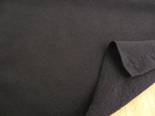 J&B定番 綿厚手度詰めスエット地(鬼裏毛)裏起毛 ブラック NTM-2595