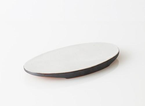 TSUKI(YUKI) フラットプレートオーバル 300(瓦食器・平皿・楕円)