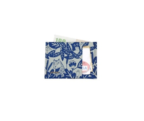 planar Card Case S -Grey and Blue Jungle-