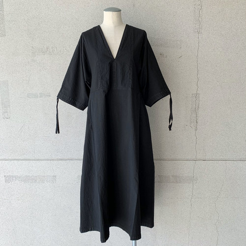 【HENRIK VIBSKOV】MINUTE DRESS GARMENT DYE/Black/No.49-10-A