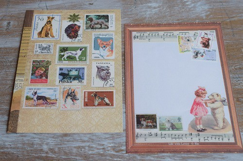 犬のメッセージカード(BROWN)・3枚セット(リニューアル)