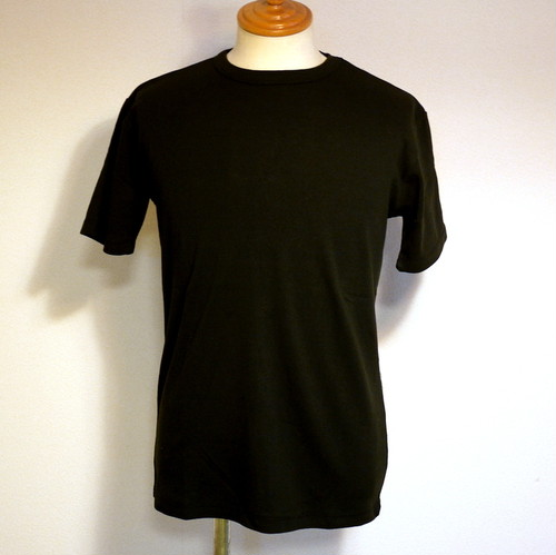 High Tension Circular Rib Crew Neck TEE Black