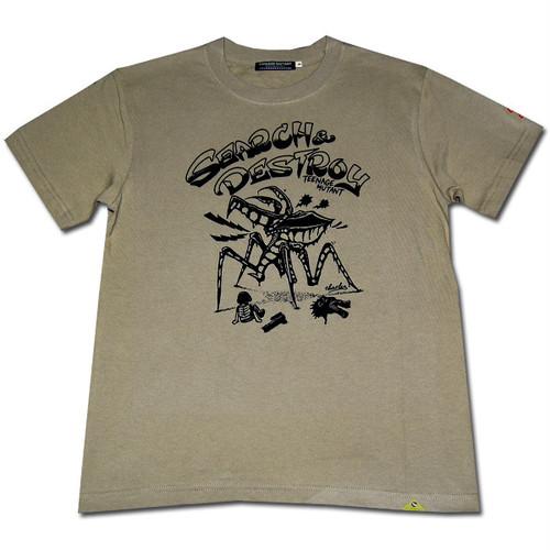 DESTROY BUGS Tシャツ 【サンドカーキ】