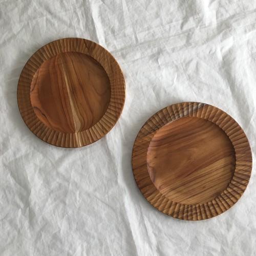 木のリム皿 22㎝