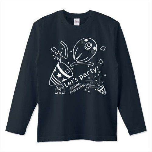 キャラT60 たこさんwinなー 白たこさんパーティD *5.6オンスロングTシャツ (Printstar)