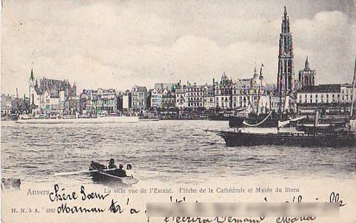 古絵葉書エンタイア「エスコー川」(1904年)