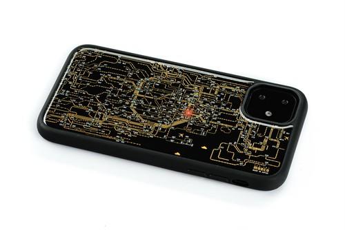 FLASH 東京回路線図 iPhone 11 ケース 黒【東京回路線図A5クリアファイルをプレゼント】
