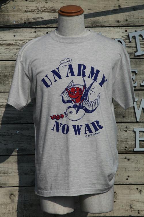 コテージレッドデビルonスワローTシャツ|UNnecessary ARMY NO WAR(オートミール)