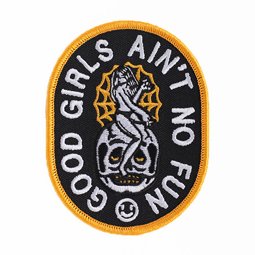 """STUPID KRAP""""GOOD GIRLS EMBROIDERED PATCH"""""""