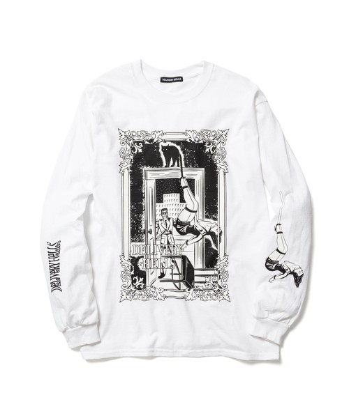 """""""Hanging"""" L/S Tee  WHITE  19AW-DH-14"""