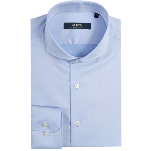 送料無料/メンズ/青/超長綿/ビジネス/ホリゾンタルカラー/ワイシャツ
