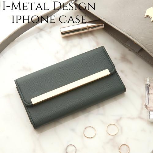 iphone ケース 手帳型 ミラー付き iphone11 11Pro カバー 手帳 かわいい iphone8 iphoneXR Xs max おしゃれ サフィアーノレザー風 アイフォン 11 プロ シンプル 大人 可愛い スタンド モスグリーン