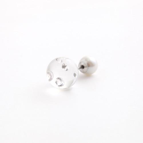 MAYU/PEARL RIVETS 9mm White Pearl Zirconia Enc.14mm(片耳)