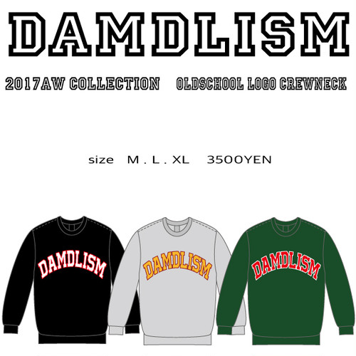 DAMDLISM oldshool logo crewneck