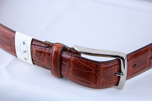 Giorgio Zoni Crocodile Leather Belt -Brown Gold ジョルジオ・ゾーニ レザーベルト