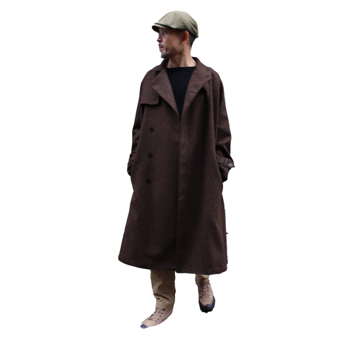 ASEEDONCLOUD アシードンクラウド moguragumi Spriggan Coat Underground Wool Brown #202101
