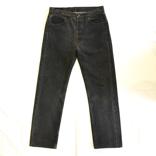 "80's Levi's 501 BLACK  W 33 ""MADE IN USA"" <Used>"